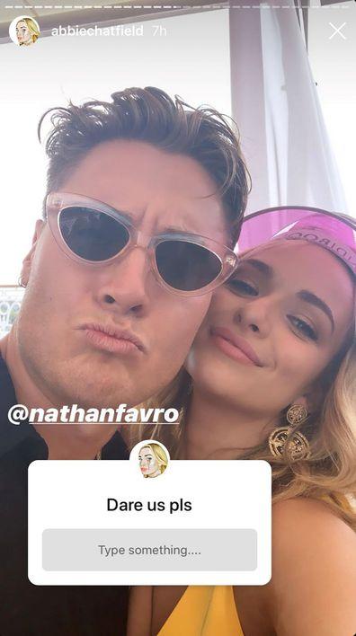 Abbie Chatfield, Nathan Favaro, The Bachelor
