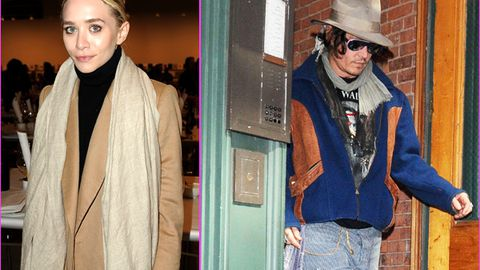 Johnny Depp caught 'sneaking out of Ashley Olsen's apartment'