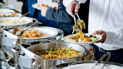 Elbow-to-elbow, serve-yourself buffets are unlikely to resurface anytime soon