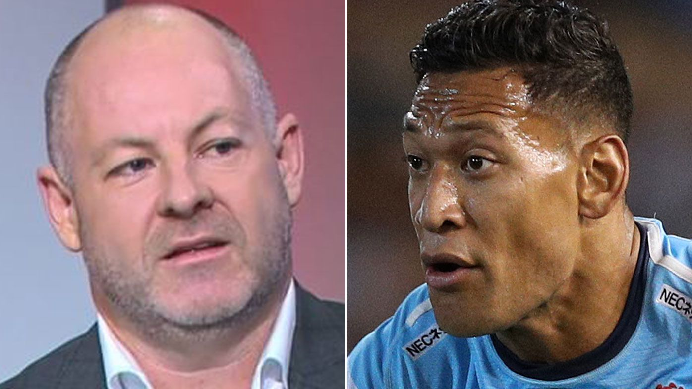Israel Folau wanted out of pro sport, Andrew Webster says, gives axed star send-off