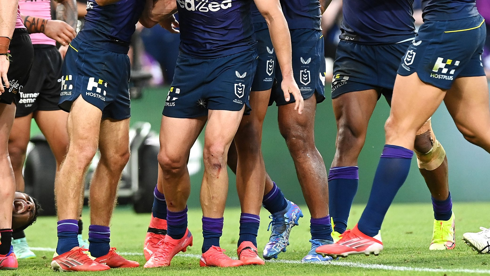 Melbourne Storm players.