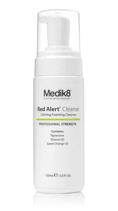 "<a href=""http://www.medik8.com.au/cosmeceuticals/medik8-red-alert-cleanse/"" target=""_blank"">Red Alert Cleanse, $52, Medik8</a>"