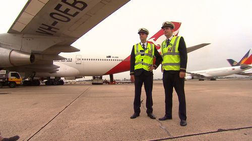 Today was the first time the brothers had flown the same plane at the same time. (9NEWS)