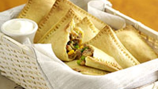 Spicy bean turnovers