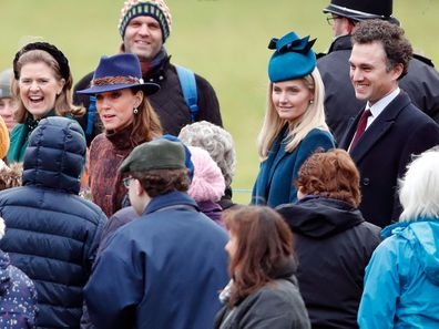 Kate Middleton ahead of church service