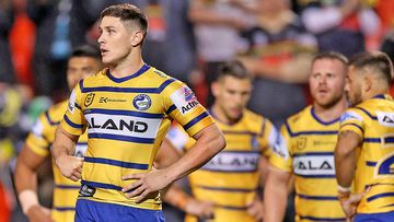 Mitchell Moses of the Eels looks on after a Panthers try