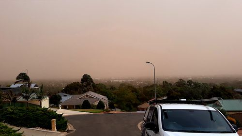 Picture taken from Hill Bank in Adelaide. Picture: Jace Koesling