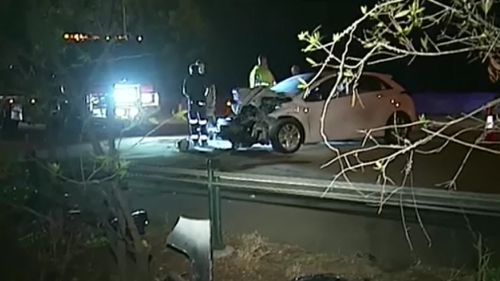 The crash occurred in Helensvale. (9NEWS)