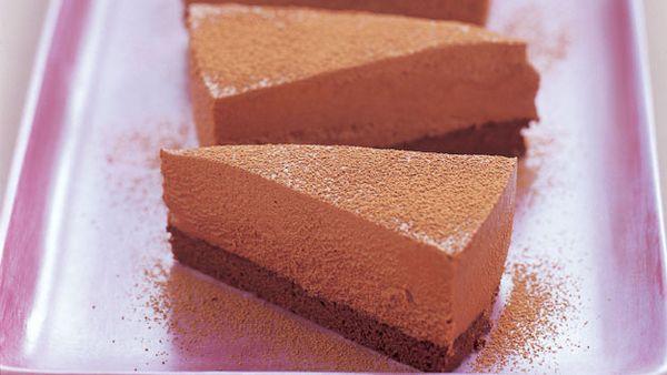 Irish cream and dark chocolate mousse