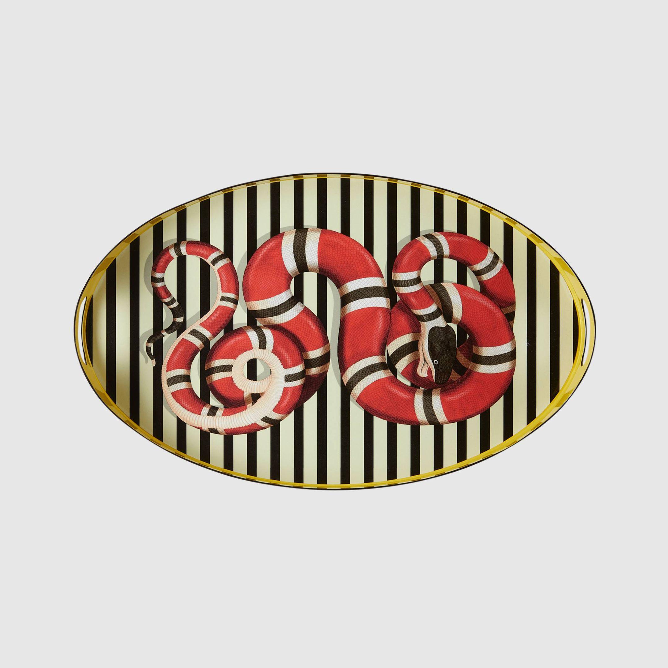 Kingsnake oval metal tray, $1,690