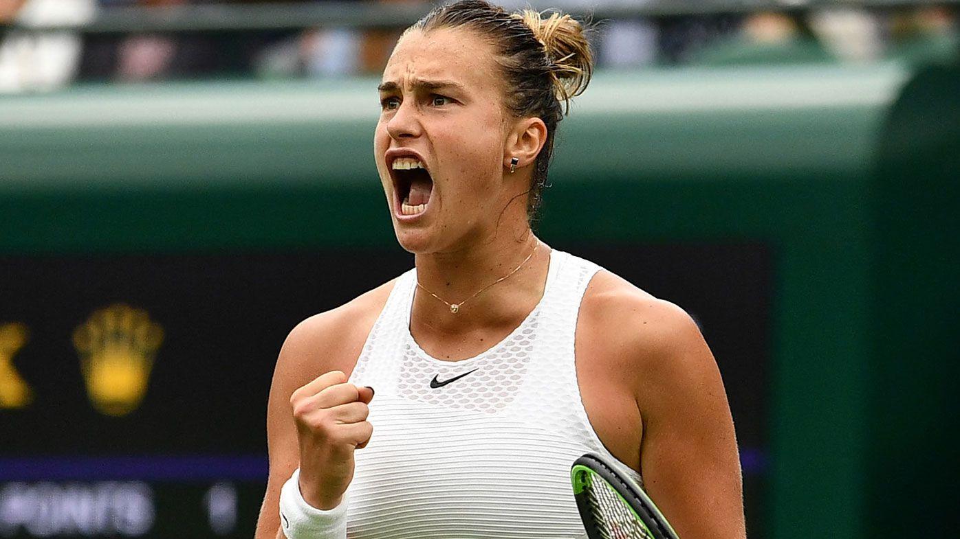 Sabalenka claims the first win of Wimbledon.