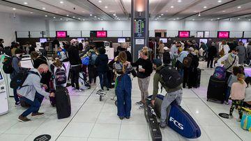 Passengers at Melbourne Airport Terminal 3