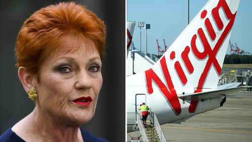 """Pauline Hanson has savaged Virgin's plans to honour military veterans with priority boarding as an """"embarrassing"""" marketing ploy."""