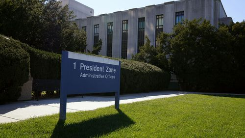 Walter Reed National Military Medical Center is shown in Bethesda, Md., Saturday, Oct. 3, 2020