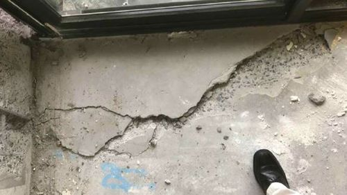Residents reported hearing loud bangs before the cracks were found.