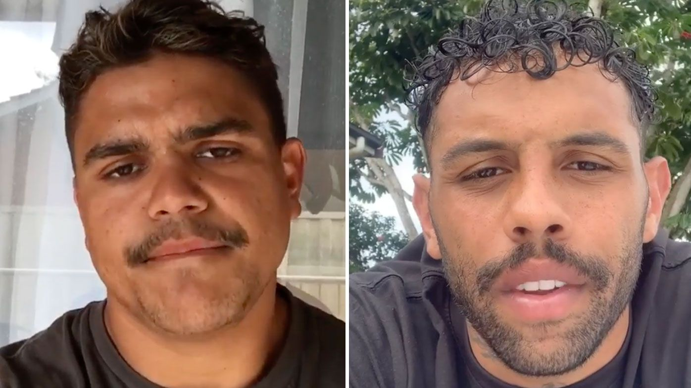Latrell Mitchell and Josh Addo-Carr apologise on social media
