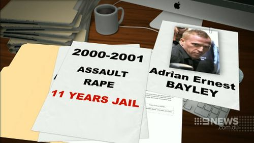 Bayley was sentenced to 11 years behind bars for offences in 2000 and 2001. (9NEWS)