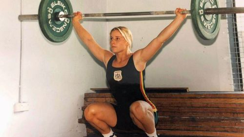 Rachel was training as a weightlifter for the Commonwealth Games when she fell pregnant.