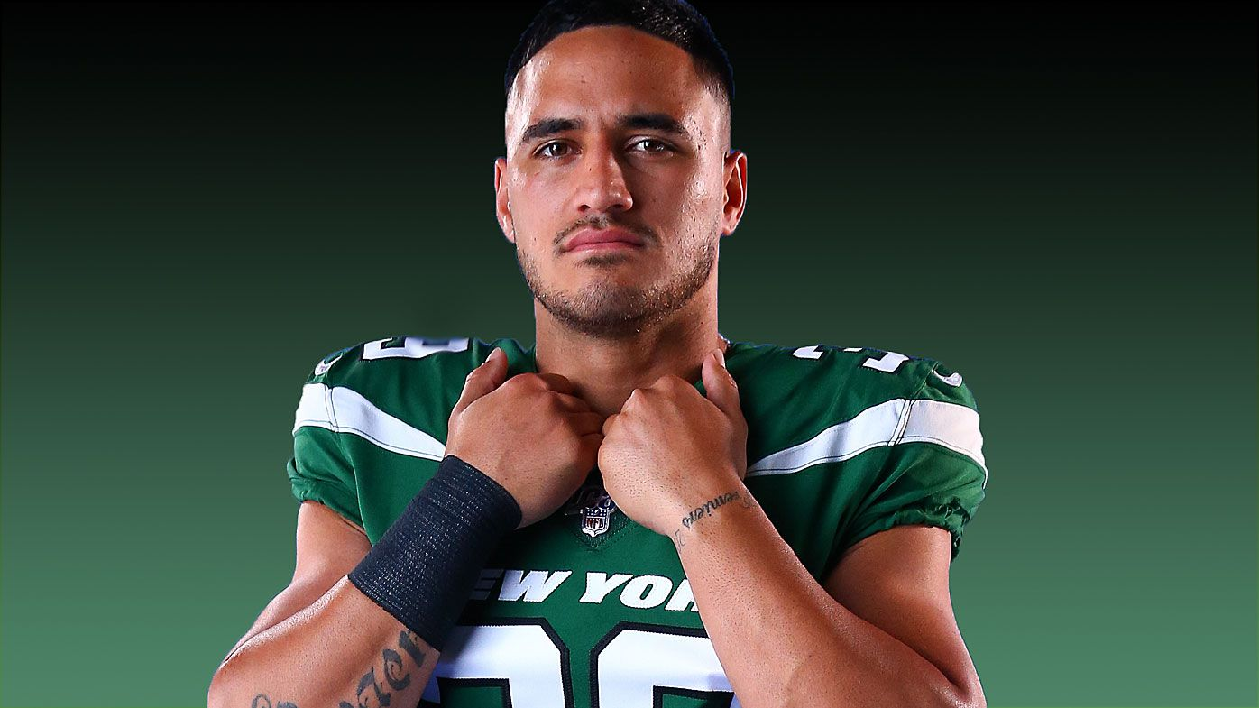 Valentine Holmes in his Jets uniform