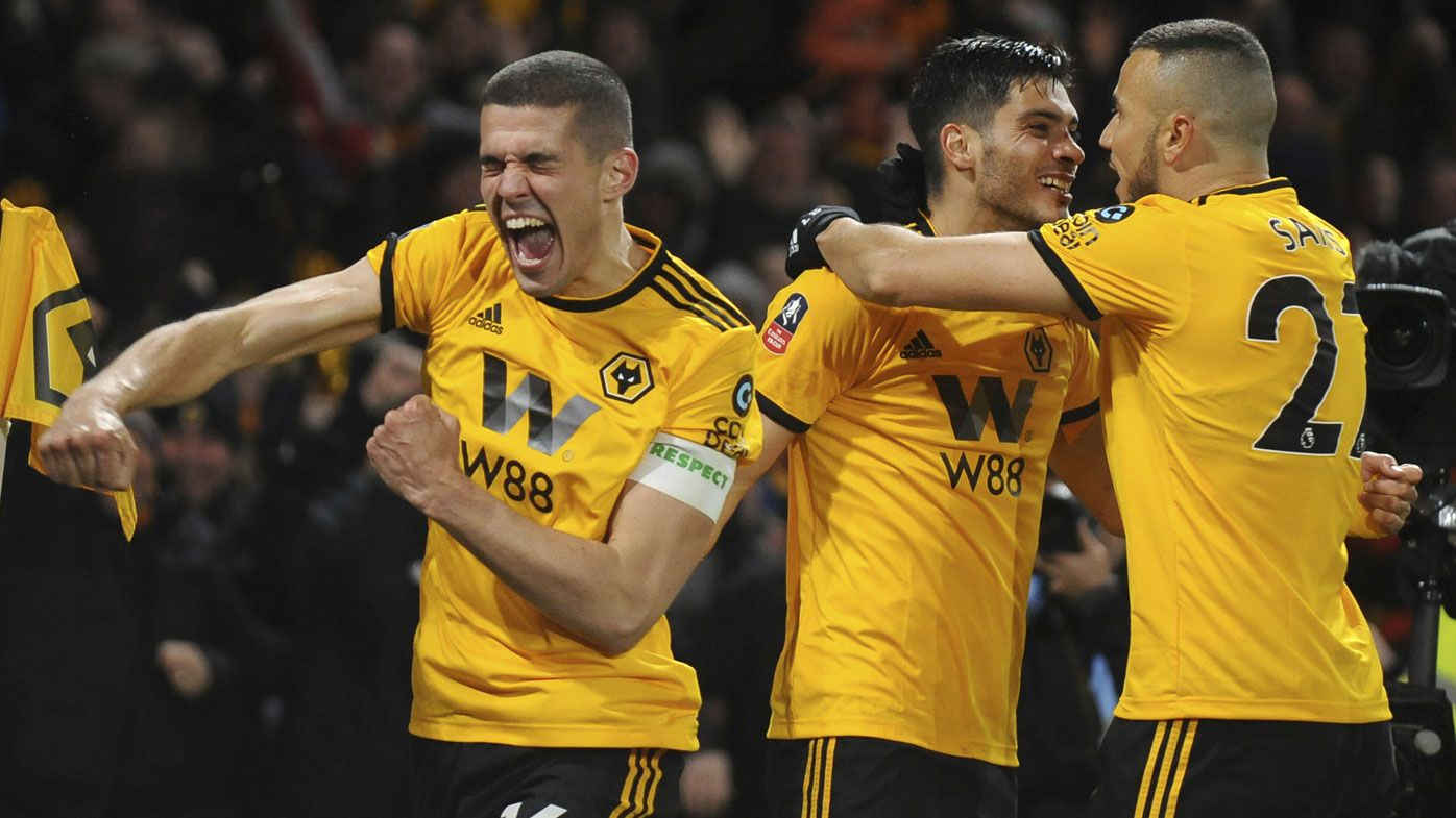 Manchester City survive, Man United out of FA Cup after Wolves loss