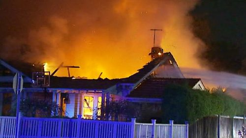 Smoke alarm saved family from burning Melbourne home