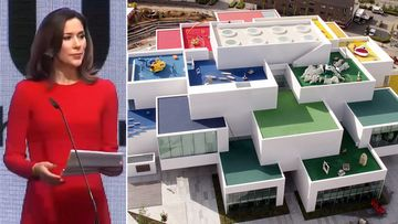 Princess Mary attends opening of giant Lego play house