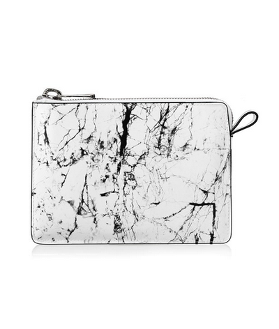 """<a href=""""http://www.manningcartell.com.au/all/accessories/marble-clutch.html"""" target=""""_blank"""">Manning Cartell</a> marble clutch, $199."""