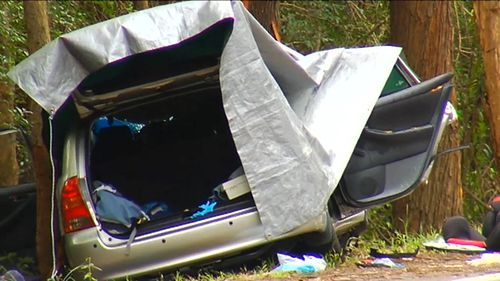 Three people were killed in the crash on the NSW Central Coast. (9NEWS)
