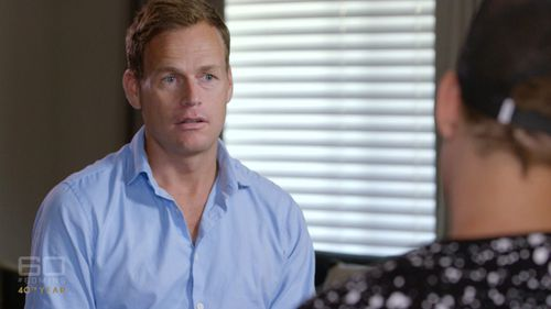 60 Minutes reporter Tom Steinfort speaks with a Wagga Wagga ice dealer, who did not want to be identified. (60 Minutes)