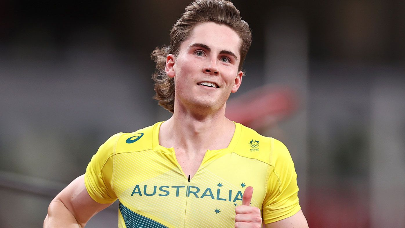 Rohan Browning storms the 100m heats.