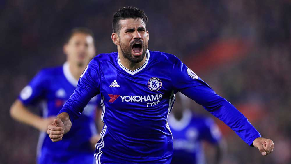 Diego Costa scored the second goal for Chelsea. (AAP)