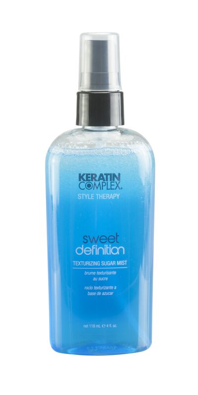"<a href=""https://www.myhaircare.com.au/Sweet_Definition_Texturizing_Sugar_Mist_4786.html"" target=""_blank"">Keratin Complex Sweet Definition Texturizing Sugar Mist, $31.95.</a>"