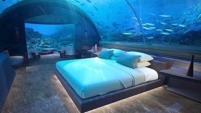 Spend a night under the seas in the Maldives
