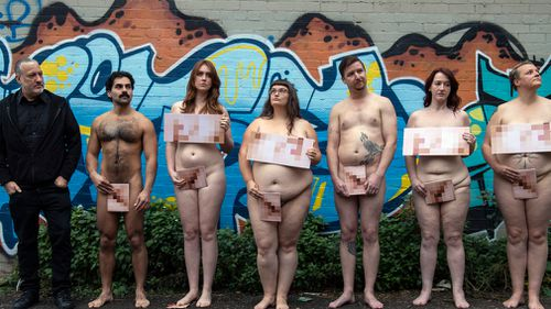 Tunick held a promo photo shoot last week before this morning's proper run. Picture: AAP