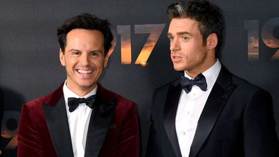 "Andrew Scott and Richard Madden attend the ""1917"" World Premiere and Royal Performance at the Odeon Luxe Leicester Square on December 04, 2019"