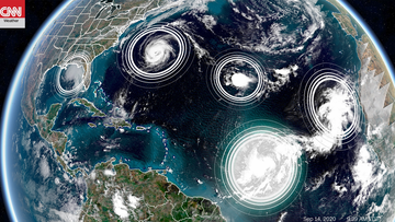 There are 5 tropical cyclones in the Atlantic Ocean at the same time. It's only the second time in history this has happened.