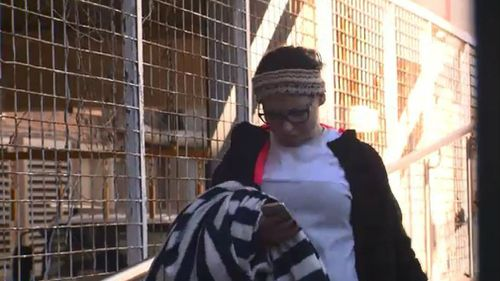Stephanie Boody outside court. Picture: 9NEWS