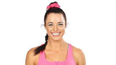 Elana Withnall competing on Australian Ninja Warrior 2020.