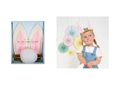 "<a href=""https://www.kidostore.com/products/bunny-dress-up-kit"" target=""_blank"">Meri Meri Bunny Dress Up Kit, $28.95.</a>"