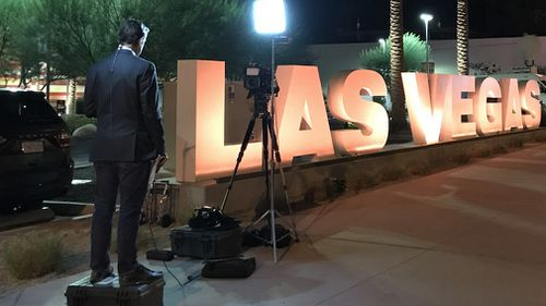 Robert Penfold prepares for a cross from Las Vegas. (9NEWS)