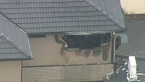 Six fire trucks were needed to control the blaze. (9NEWS)