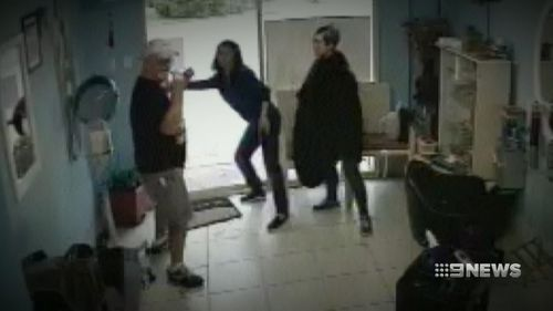Wayne Greenhalgh fled for his life to a nearby hair salon. Picture 9News