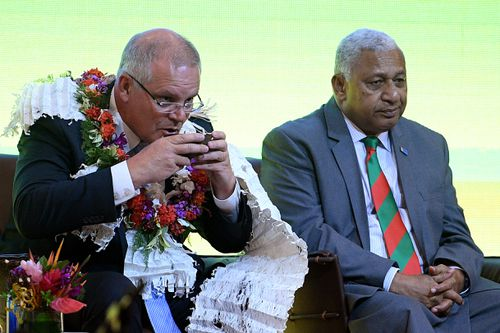 Fijian Prime Minister Frank Bainimarama has warned Scott Morrison that he needs to change his stance on climate change.