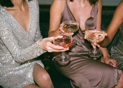 Women celebrating, getting drinks