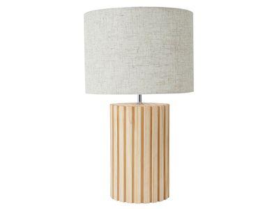 Linear Wood Base Table Lamp — Kmart