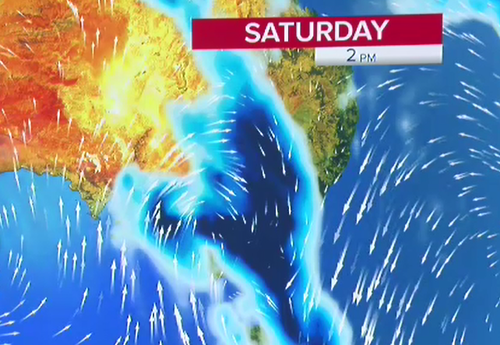 The south-east of Australia is set to cop a drenching.