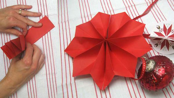 Christmas pinwheel decorations