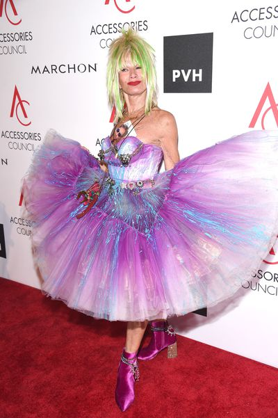 Designer Betsey Johnson, 74, at the 2017 ACE Awards at Cipriani in New York.