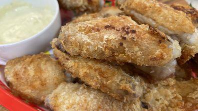 Pan fried salt and pepper wings