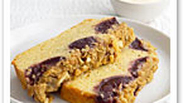 Plum streusel loaf